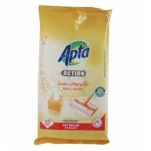 Moкри кърпи за миещи се повърхности с марсилски сапун Apta