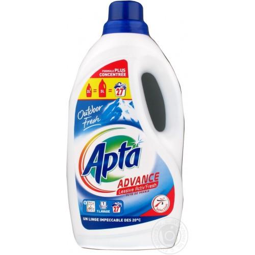Tечен препарат за бяло и цветно пране Apta Advance 3л