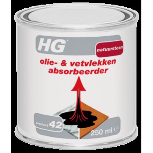 Абсорбиращ препарат за грес и масло HG 250мл