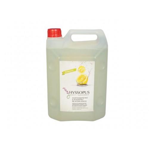 Белина за баня и избелнане на дрехи Hyssopus Лимон ultra power 4л