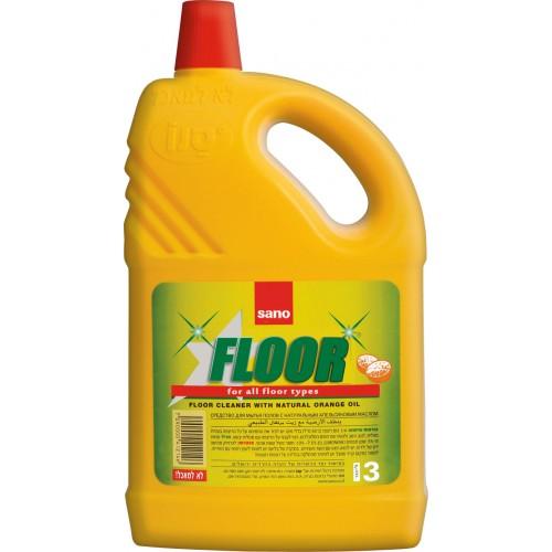 Препарат за почистване на подови настилки Sano Портокал 3л