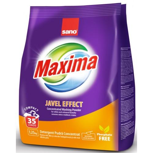 Прах за пране на силно замърсени дрехи Sano Maxima Javel