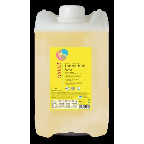 Био течен перилен препарат за цветно пране Sonett 10л