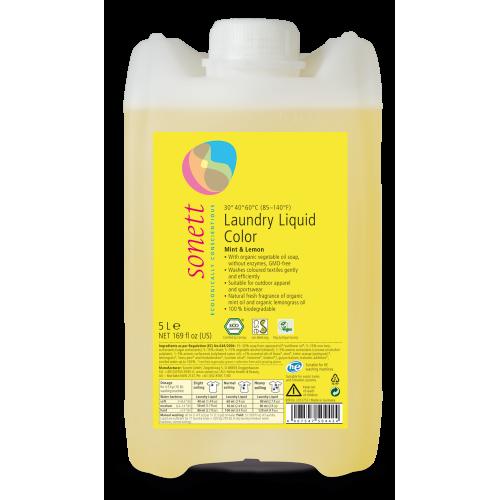 Био течен перилен препарат за цветно пране Sonett 5л